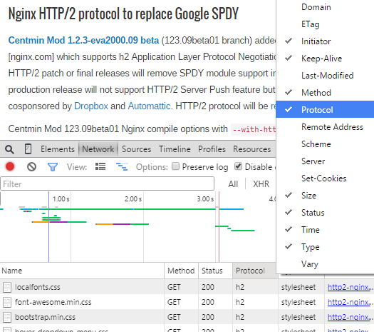 Nginx HTTP/2 protocol to succeed Google SPDY